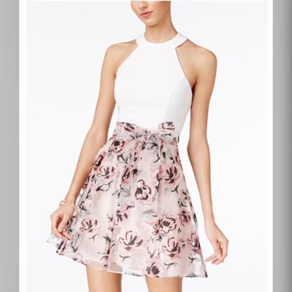 010c00e280669d B Darlin Dresses & Skirts - B Darlin Juniors Strappy-Back Fit & Flare Dress